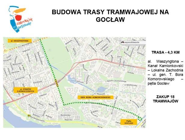 Tędy ma przebiegać linia tramwajowa na Gocław Urząd Miasta