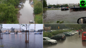 Potop na ulicach, korki na mostach. Ponad 170 interwencji strażaków