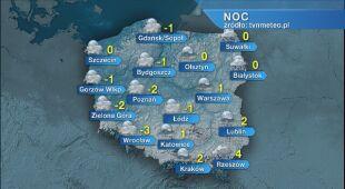 Prognoza pogody na noc 29/30.12