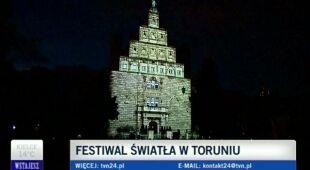 Festiwal Światła w Toruniu/ TVN24